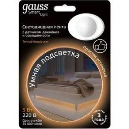 Лента Gauss светодиодная влагозащищенная 4,5W/m 30LED/m 2835SMD теплый белый 1,2M 311011105