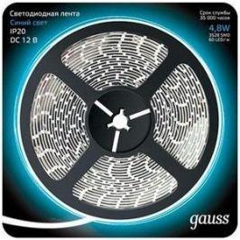 Лента Gauss светодиодная 4,8W/m 60LED/m 2835SMD синий 5M 312000505
