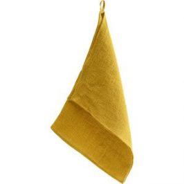 Вафельное кухонное полотенце горчичного цвета 47x70 Tkano Essential (TK18-TT0004)