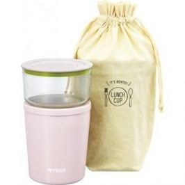 Термос Tiger для еды с контейнерами LCC-A030 Pink