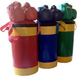 Набор боксерский КМС детский № 2 (мешок боксерский 5 кг., перчатки, трос) синий/жёлтый