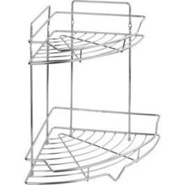 Полка Fora Corsa для ванной комнаты и кухни угловая двойная
