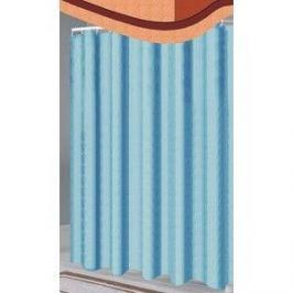 Шторка Fora для ванной однотонная голубая