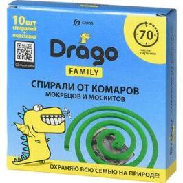 Спираль GRASS Drago Эффект от комаров 10 шт в упаковке