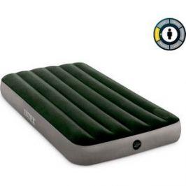 Надувной матрас Intex 64761 Downy Airbed 99х191х25 см со встроенным ножным насосом