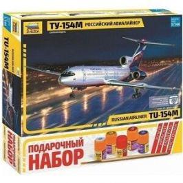 Сборная модель Звезда Российский авиалайнер ТУ - 154М, подарочный набор, 1/144 - ZV - 7004П
