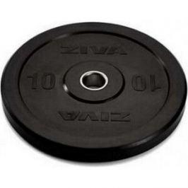 Диск бампированный ZIVA 10 кг серия Pro FE (резиновое покрытие) черный