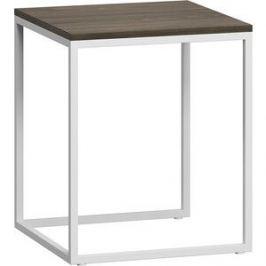 Стол журнальный LoftyHome Бервин 4 серый с белым основанием