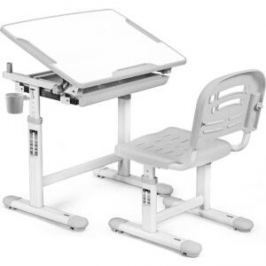 Комплект мебели (столик + стульчик) Mealux EVO-06 grey столешница белая/пластик серый
