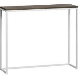 LoftyHome Стол консольный Бервин серый с белым основанием