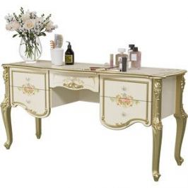 Стол туалетный Мэри Шейх СШ-05 слоновая кость/золото