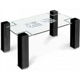 Стол журнальный Мебелик Приз 2Н, венге прозрачное с иероглифом