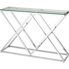 Консоль Stool Group Инсигния прозрачное стекло/сталь серебро ECST-026 (115x30)
