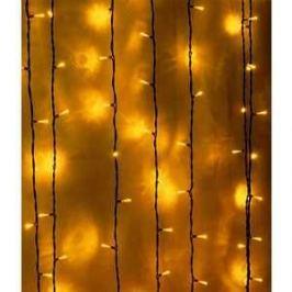 Light Светодиодный занавес желтый 2x2 чёрный PVC провод