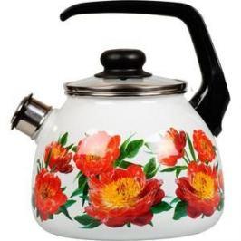 Чайник эмалированный со свистком 3.0 л Vitross Peony (1RC12)