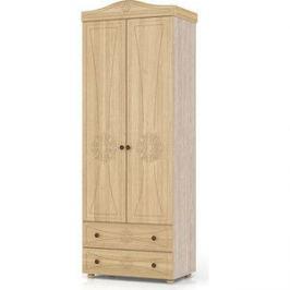 Шкаф платяной 2-х створчатый с двумя ящиками Мебельный двор Онега лён ШК-32 лён/ясень шимо светлый