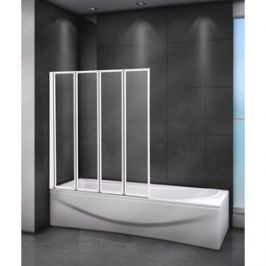 Шторка для ванной Cezares Relax 90x140 Punto, белая, левая (RELAX-V-4-90/140-P-Bi-L)