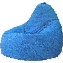 Кресло-мешок POOFF Груша велюр голубой XL