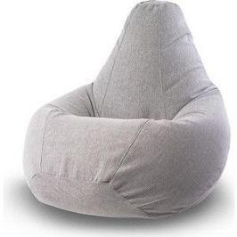 Кресло-мешок POOFF Серое микровельвет XXL