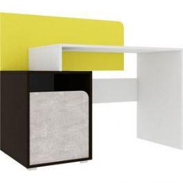 Стол Атлант Дастин мокко, ательер светлый, желтый шафрановый, белая аляска письменный