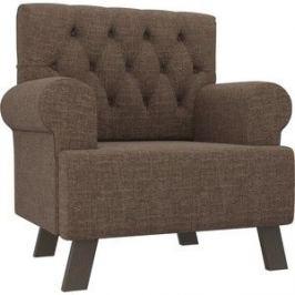 Кресло АртМебель Хилтон рогожка коричневый