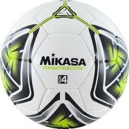 Мяч футбольный Mikasa REGATEADOR4-G, р.4, бело-черно-зеленый
