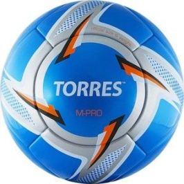 Мяч футбольный Torres M-Pro Blue F319125, р.5, сине-серебристо-белый