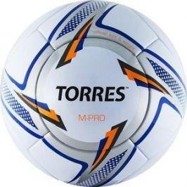Мяч футбольный Torres M-Pro White F319135, р.5, бело-серебристо-синий