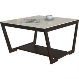 Стол журнальный Мебелик BeautyStyle 1 венге/стекло бежевое