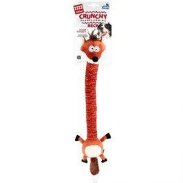 Игрушка GiGwi Crunchy Transforming Neck Incredit Crunchy Sl лиса с пищалкой для собак (75414)