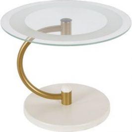 Стол журнальный Мебелик Дуэт 13Н золото/слоновая кость/прозрачное