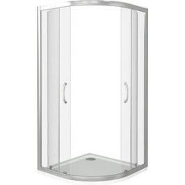 Душевой уголок Good Door Latte R 100х100 с поддоном, прозрачный, белый