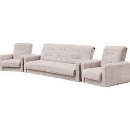 Комплект Экомебель Лондон-2 рогожка бежевая (диван + 2 кресла)