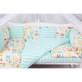 Комплект в кроватку AmaroBaby 15 предметов (3+12 подушек-бортиков) ЖИРАФИКИ