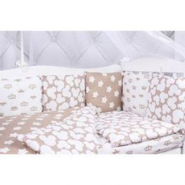 Борт в кроватку AmaroBaby 12 предметов (12 подушек-бортиков) SOFT (коричневый, бязь)