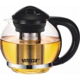 Заварочный чайник 1.3 л Vitesse (VS-4004 Черный)