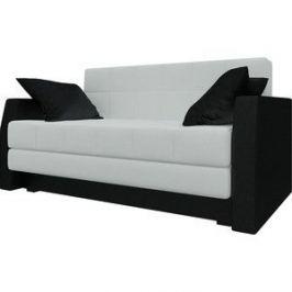 Диван Мебелико Малютка эко-кожа бело-черный