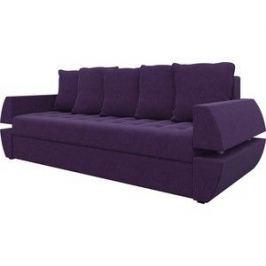 Диван-еврокнижка Мебелико Атлант Т микровельвет фиолетовый