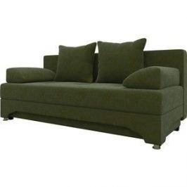 Диван-еврокнижка Мебелико Ник-2 микровельвет зеленый