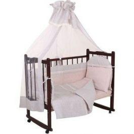 Комплект в кроватку GulSara 7 пр. с подушками Бежевый