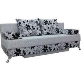 Диван еврокнижка Шарм-Дизайн Евро Лайт шенилл серый цветы