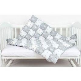Одеяло AmaroBaby Бонбон Royal Care СЕРЫЙ (100% хлопок, наполнитель файбер 100% пэ и синтепон 100% пэ, размер 90-120)