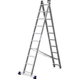 Лестница двухсекционная Сибин 10 ступеней (38823-10)