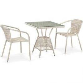 Комплект плетеной мебели из искусственного ротанга Afina garden T706/Y137C-W85 2Pcs latte