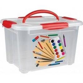 Коробка универсальная Бытпласт коробка универсальная с ручкой и декором
