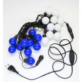 Гирлянда светодиодная Light Шарики-40мм 5м, 220-230V, черн. пр. синий и белый