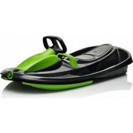Санки-снегокат Gismo Riders с рулем и тормозом (черно-зеленый) (1373641)
