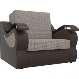 Прямой диван АртМебель Меркурий корфу 02 экокожа коричневый (80)
