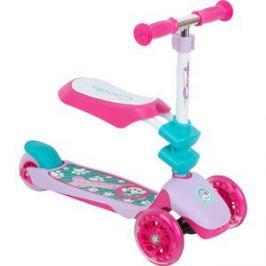 Самокат 3-х колесный Capella PUPPY pink+turquoise, (роз+бирюз) GL000568093