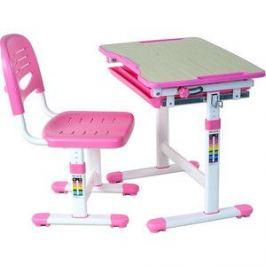 Комплект парта + стул трансформеры FunDesk Piccolino pink
